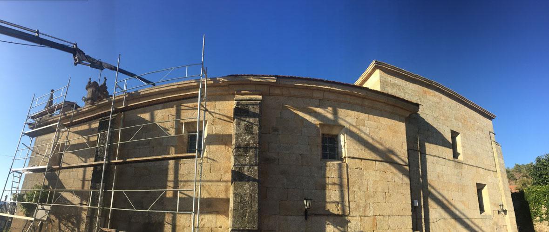 Cubierta iglesia de Pazos