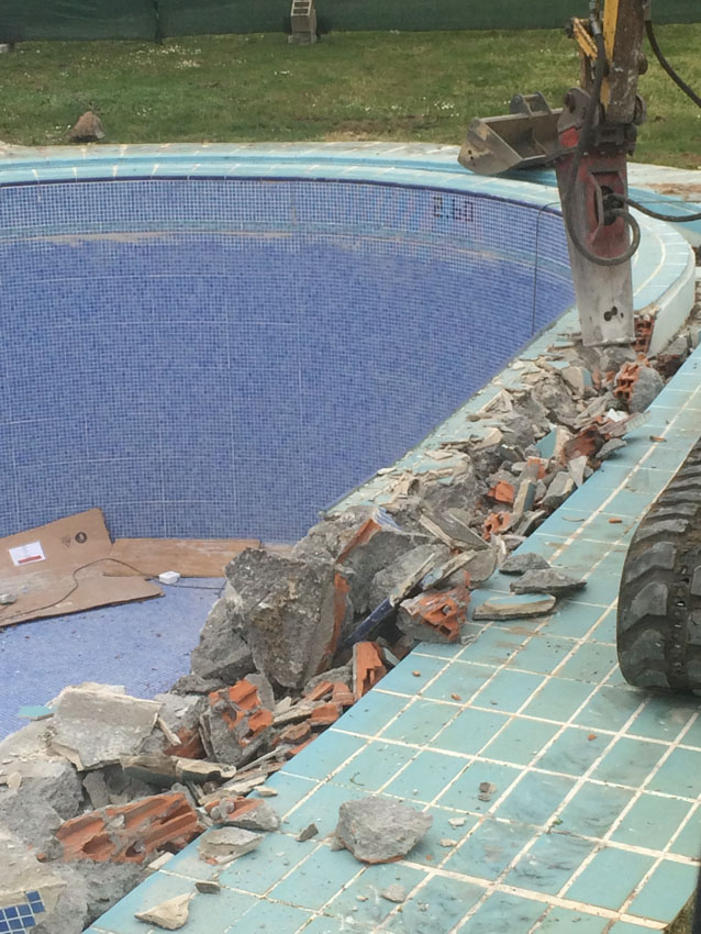 Rehabilitación piscina parador Monterrei
